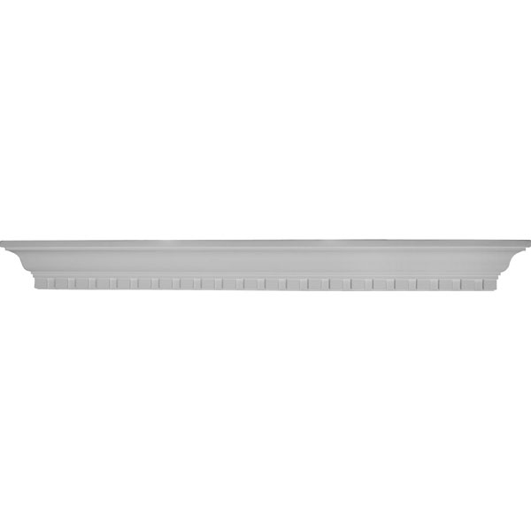 "48""W x 4 1/2""H x 4 1/8""P Dentil Shelf"