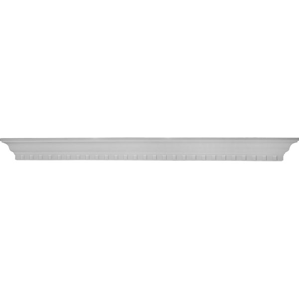 "60""W x 4 1/2""H x 4 1/8""P Dentil Shelf"