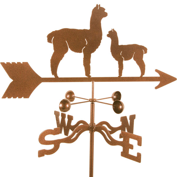 "21""L x 9""H Vintage Series Alpaca and Baby Weathervane"