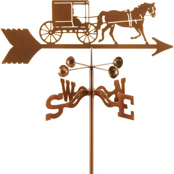 "21""L x 5 3/4""H Vintage Series Amish Horse and Buggy Weathervane"