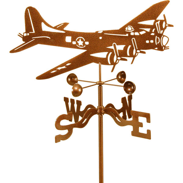 "18 1/2""L x 8 1/4""H Vintage Series B-17 Airplane Weathervane"