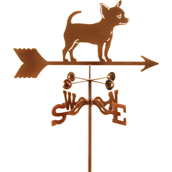"21""L x 9 1/4""H Vintage Series Chihuahua Dog Weathervane"