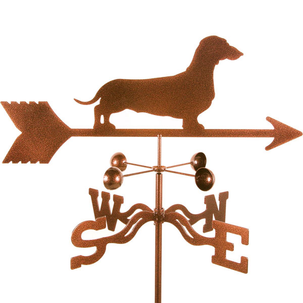 "21""L x 6 3/4""H Vintage Series Daschund Dog Weathervane"