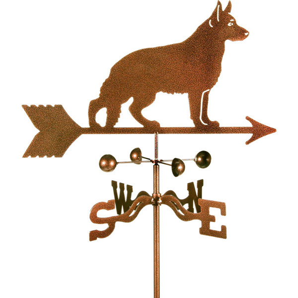 "21""L x 8 1/2""H Vintage Series German Shepherd Dog Weathervane"
