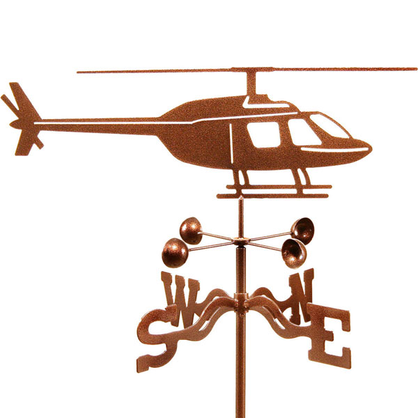 "20 1/2""L x 8 3/4""H Vintage Series Helicopter Weathervane"