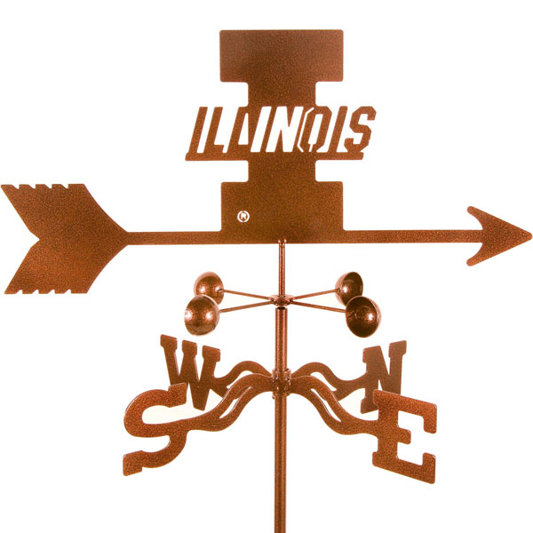 "21""L x 8 1/4""H Vintage Series Illinois Fighting Illini Logo Weathervane"