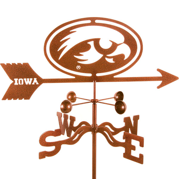 "21""L x 7 1/4""H Vintage Series Iowa Hawkeyes Logo Weathervane"