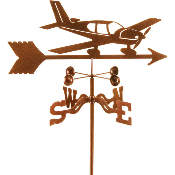 "15 1/2""L x 7 3/4""H Vintage Series Low Wing Airplane Weathervane"