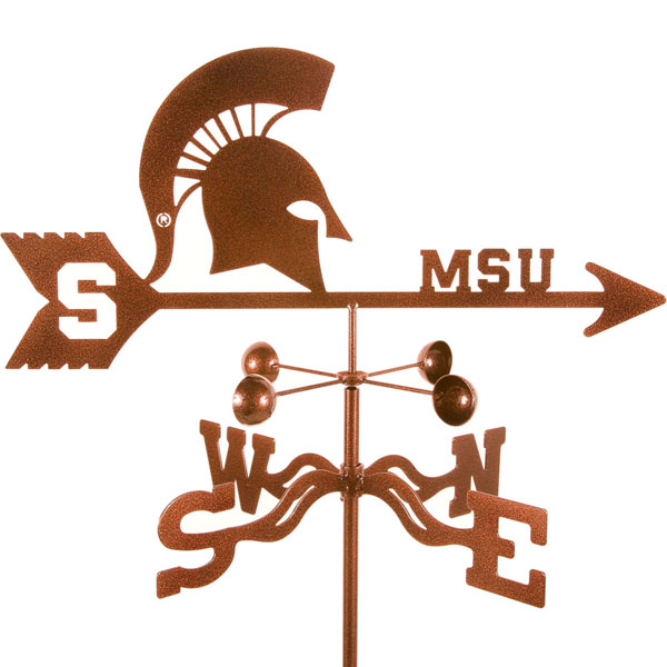 "21""L x 8""H Vintage Series Michigan State Spartans Logo Weathervane"