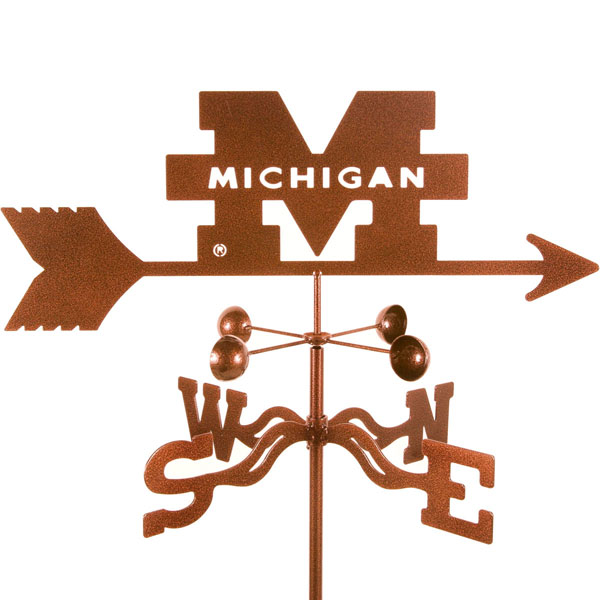 "21""L x 6 1/4""H Vintage Series Michigan Wolverines Logo Weathervane"