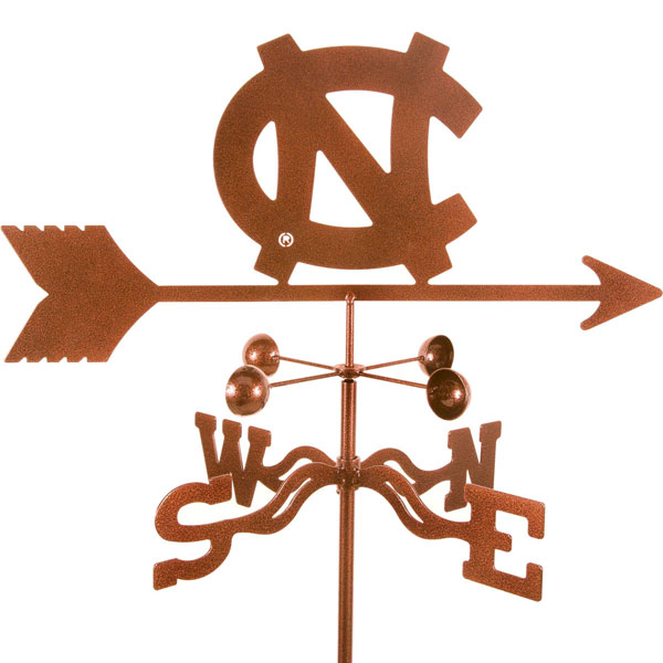 "21""L x 8 1/4""H Vintage Series North Carolina Tar Heels Logo Weathervane"