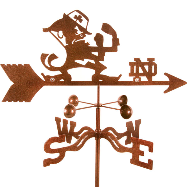"21""L x 8 1/4""H Vintage Series Notre Dame Fighting Irish Logo Weathervane"