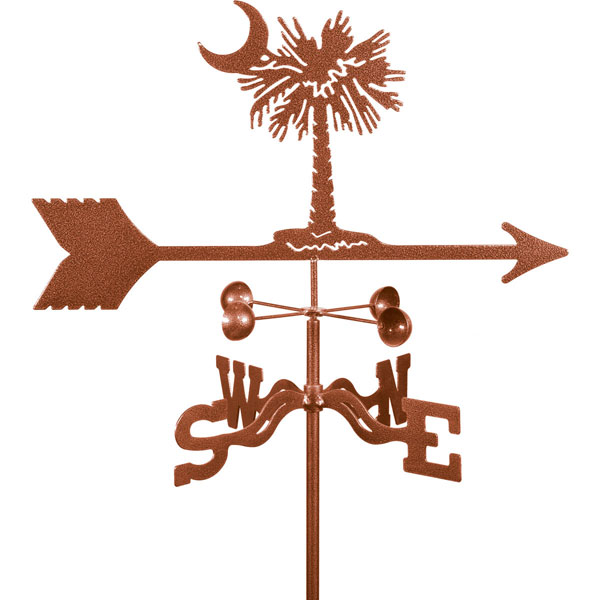 "21""L x 10""H Vintage Series Palmetto Weathervane"