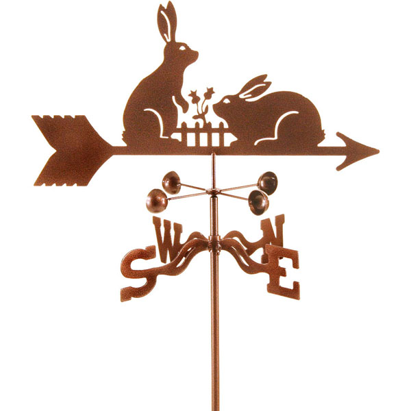 "21""L x 9""H Vintage Series Rabbits Weathervane"