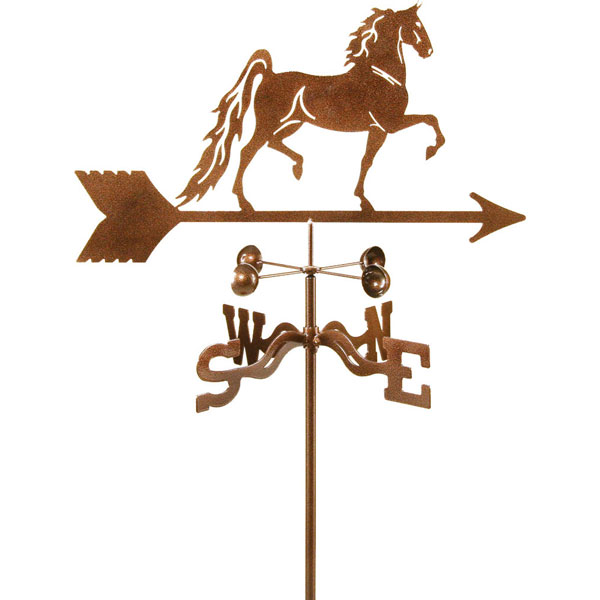"21""L x 10""H Vintage Series Saddlebred Horse Weathervane"