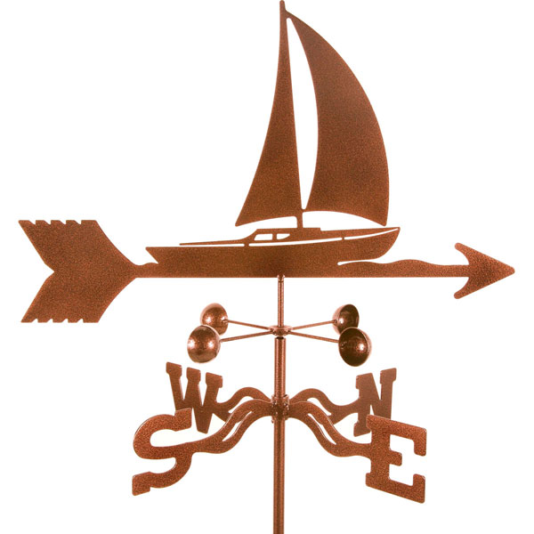 "21""L x 11 1/4""H Vintage Series Sailboat Weathervane"