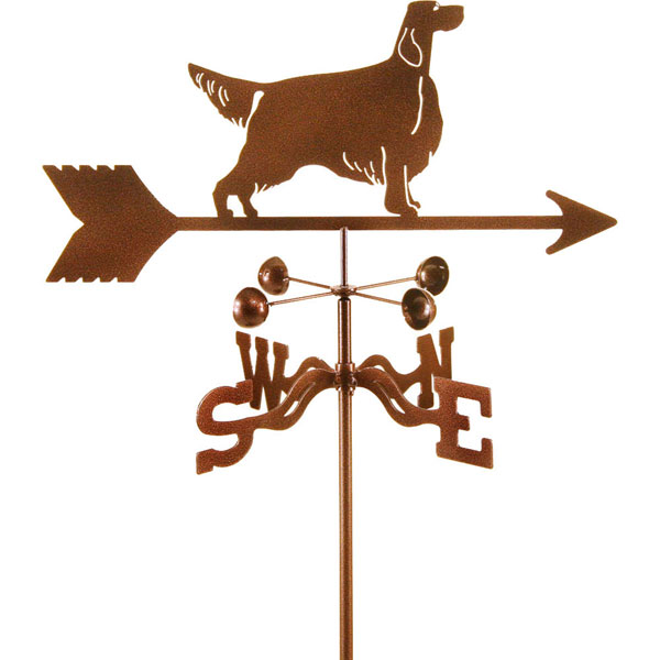 "21""L x 8 1/4""H Vintage Series Setter Dog Weathervane"