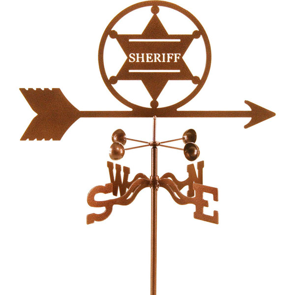 "21""L x 9 1/4""H Vintage Series Sheriff Badge Weathervane"