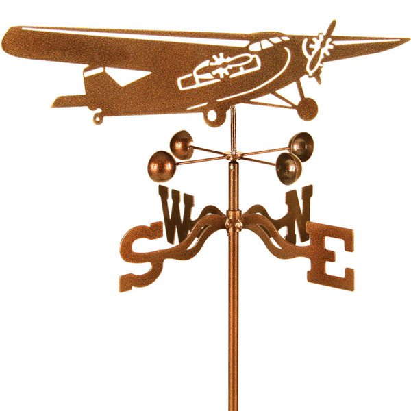 "19""L x 6""H Vintage Series Trimotor Airplane Weathervane"