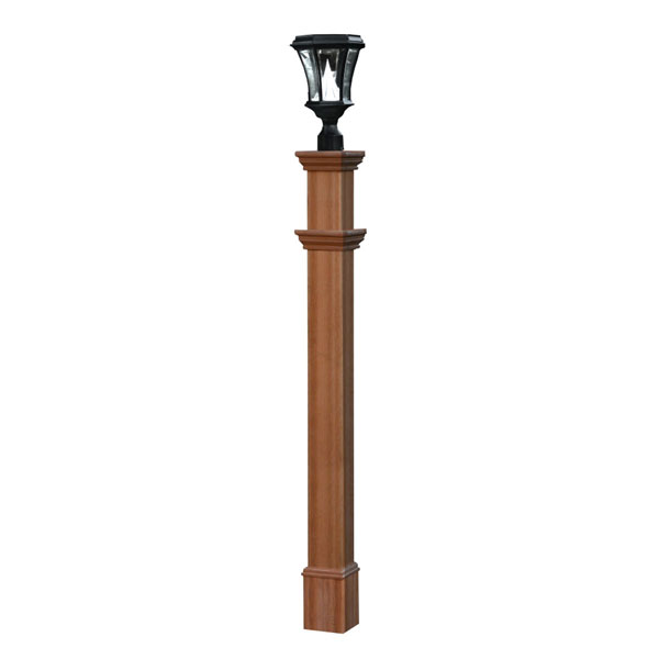 "6""W x 6""D x 74""H Charleston Composite Lamp Post"