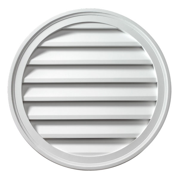"""24""""W x 24""""H x 1 5/8""""P Brick Mould Style Round Louver, Functional"""