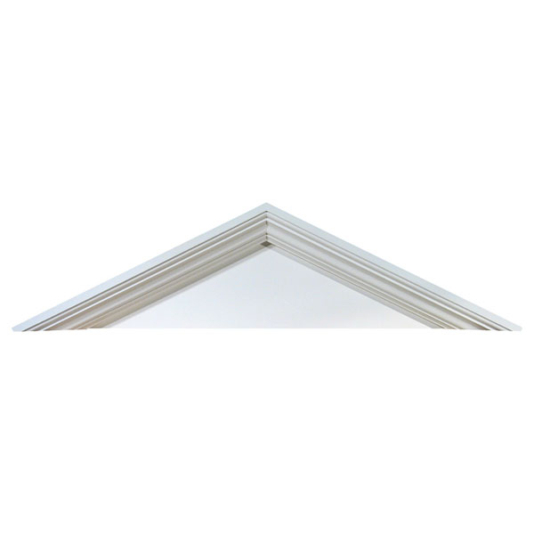 56''W x 13 5/8''H x 4 1/2''P Pitch 5 1/2 / 12 Peaked Cap Pediment
