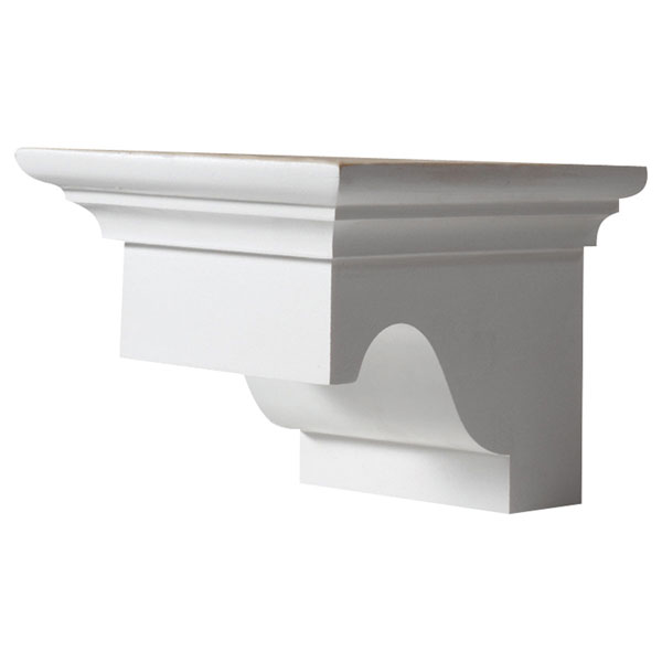"5 13/16""W x 4 9/16""H x 6 3/16""P Decorative Corbel Dentil Block"