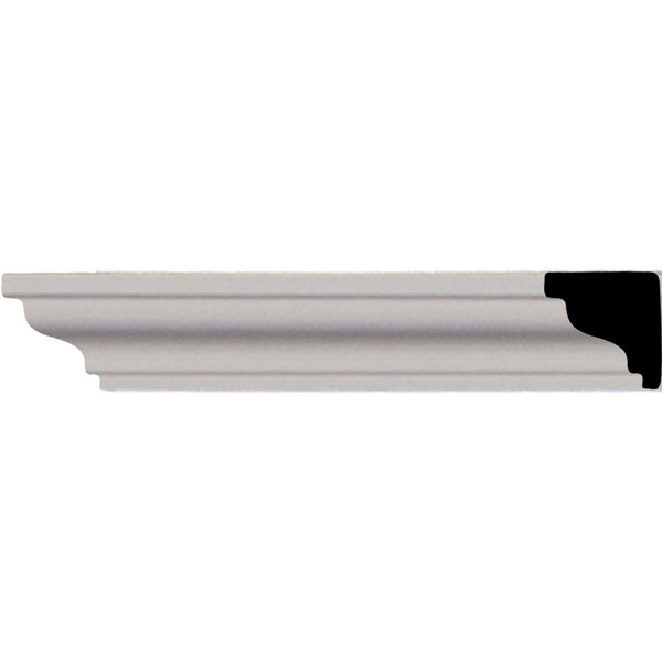 "SAMPLE - 3/4""H x 3/4""P x 12""L Hillsborough Traditional Smooth Crown Moulding"