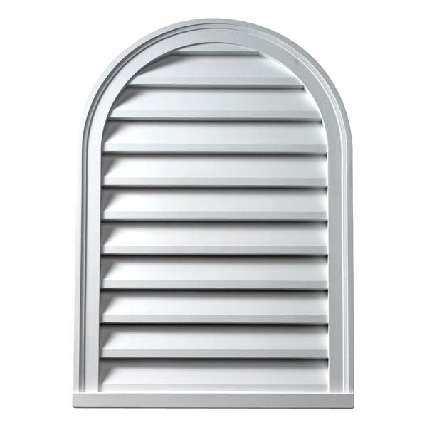 "16""W x 36""H Cathedral Louver, Decorative"