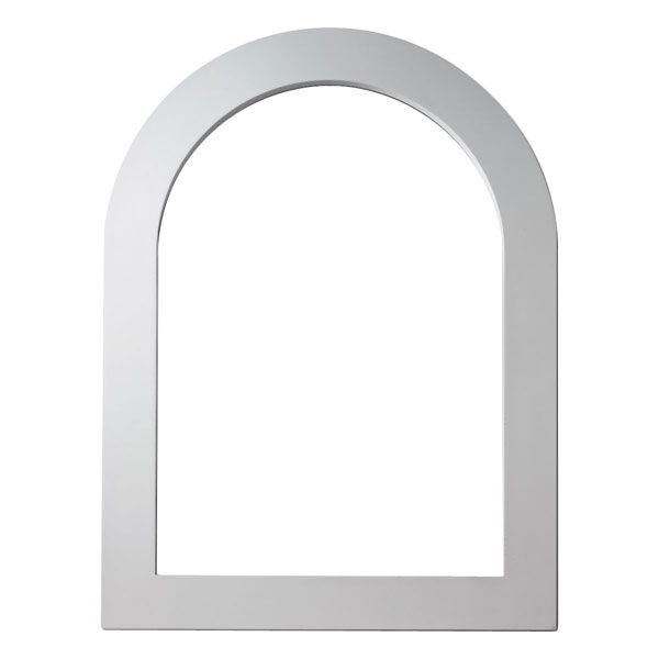 "22 3/16""IW x 31 11/16""H Inside x 1""P, 3 1/2"" Trim, Flat Trim for Cathedral Louver CLV22X31 & FCLV22X31"
