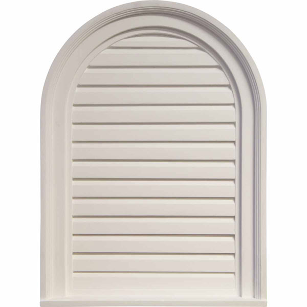 "18""W x 24""H x 2""P, Cathedral Gable Vent Louver, Decorative"