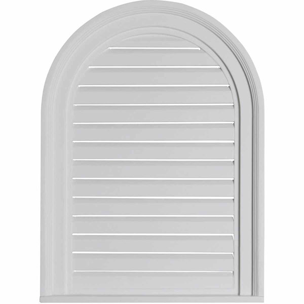 "18""W x 24""H x 2""P, Cathedral Gable Vent Louver, Functional"