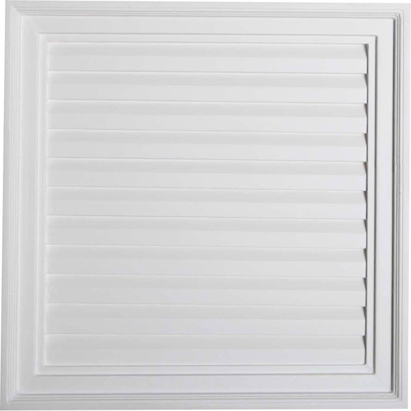 "24""W x 24""H x 2 1/4""P, Vertical Gable Vent Louver, Decorative"
