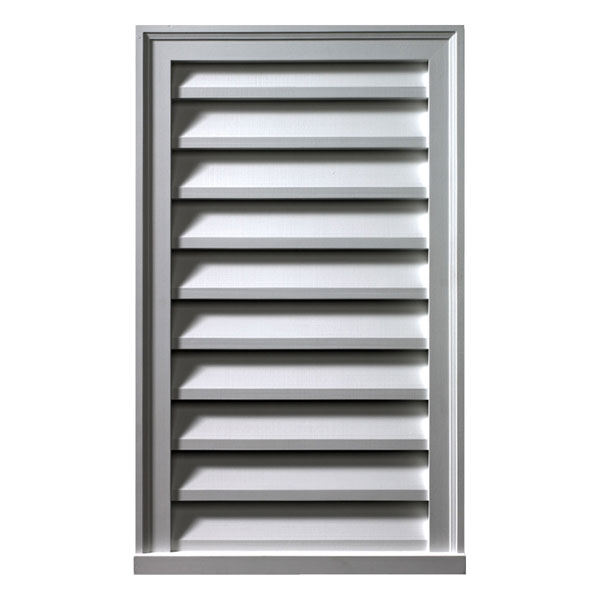 "12""W x 24""H x 2""P Brick Mould Style Vertical Louver, Functional"