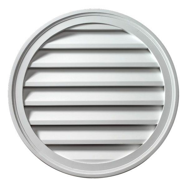 "22""W x 22""H Round Louver, Functional"