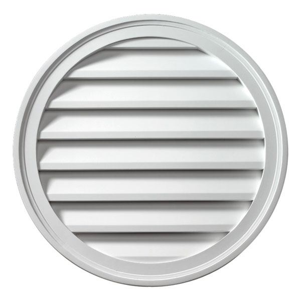 "36""W x 36""H Round Louver, Functional"