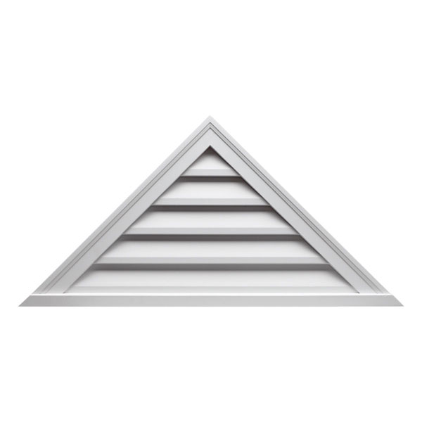 "60""W x 25""H Triangle Louver, 10/12 Pitch, Functional"