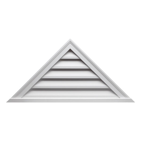 "64""W x 32""H Triangle Louver, 12/12 Pitch, Functional"