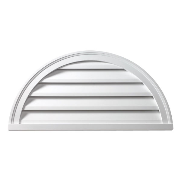 "32""W x 16""H Half Round Louver, Decorative"