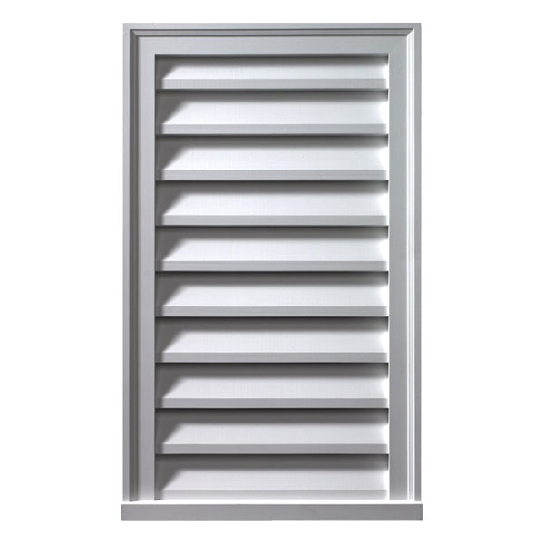 "12""W x 24""H x 2""P Brick Mould Style Vertical Louver, Non-Functional"