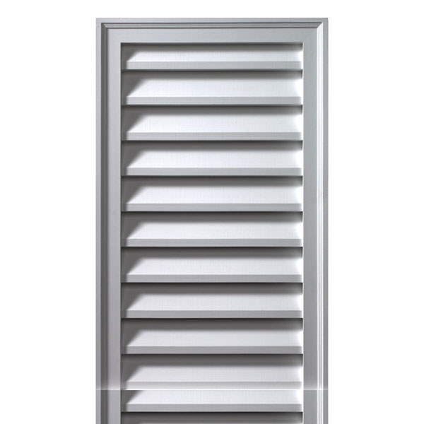 "12""W x 30""H x 2""P Brick Mould Style Vertical Louver, Non-Functional"