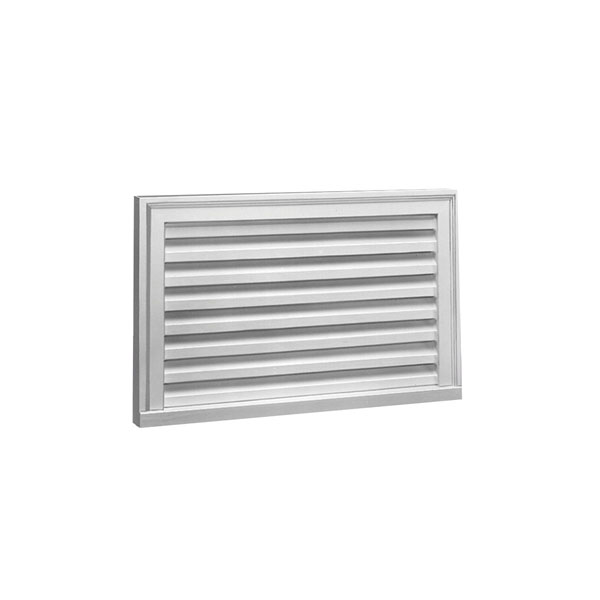 "32""W x 16""H x 2""P Brick Mould Style Horizontal Louver, Non-Functional"