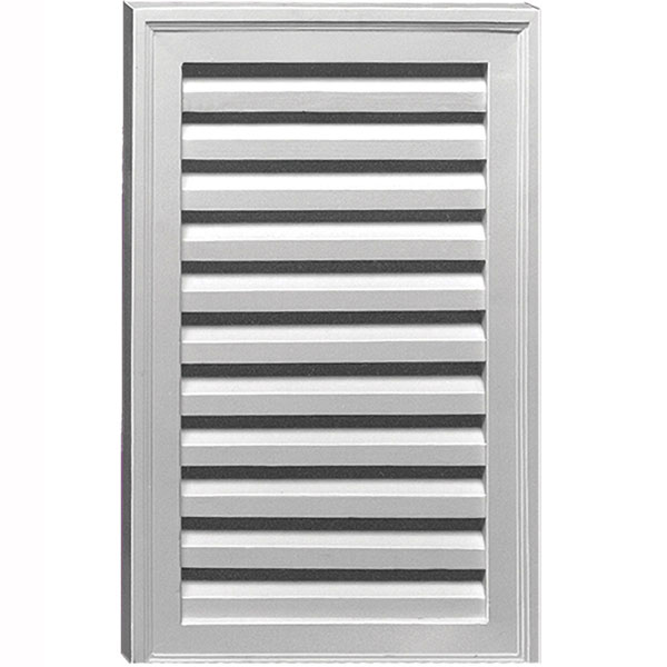 "18""W x 24""H Vertical Louver with No Sill, Decorative"