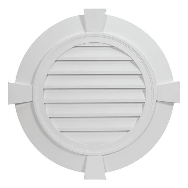 Fypon round louver fypon round gable vent fypon round vent for Fypon gable trim