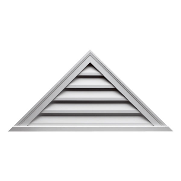"60""W x 25""H Triangle Louver, 10/12 Pitch, Decorative"