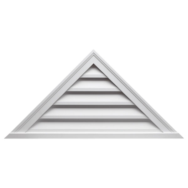 "64""W x 32""H Triangle Louver, 12/12 Pitch, Decorative"