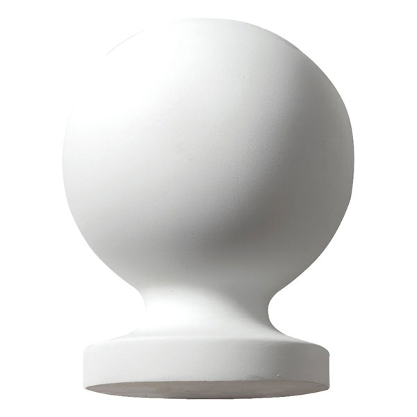 "5 7/8""W x 8""H Full Round Ball Finial"