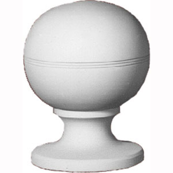 "6 3/16""W x 8 1/2""H Full Round Decorative Ball Finial"