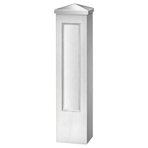 "12 1/2""W x 48""H Straight Panel Newel Post"