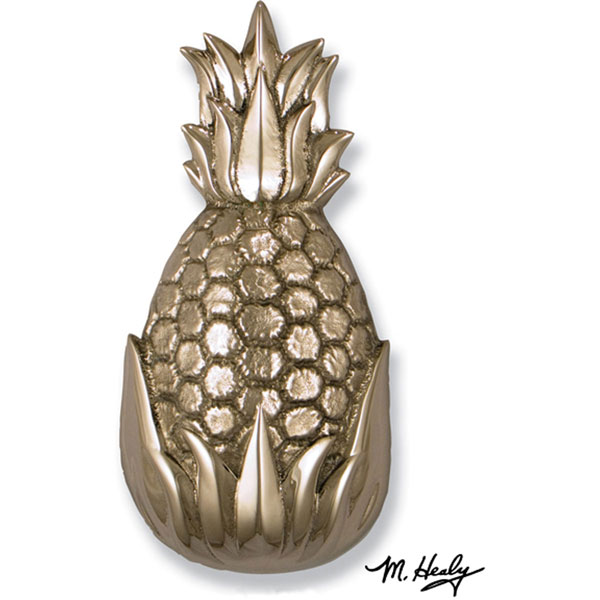 "4 1/2""W x 2 1/2""D x 8 1/2""H Michael Healy Pineapple Door Knocker, Nickel Silver and Chrome"